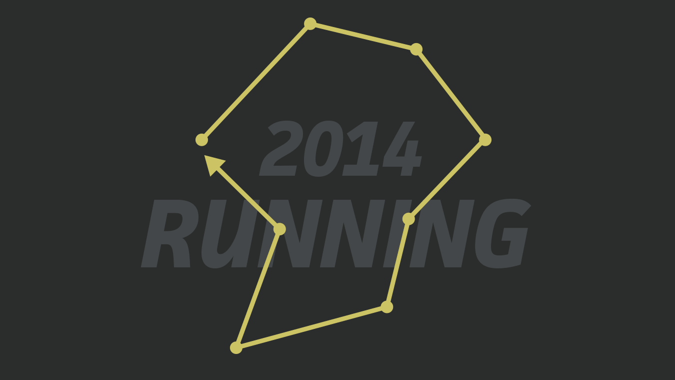 The thumbnail image for my 2014 Running website project.